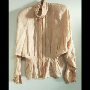 💐Gorgeous VTG 80's silk blouse 💐
